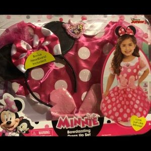 Minnie Mouse Costume 4-6x Dress up Halloween new